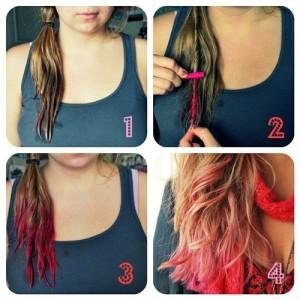 как покрасить волосы пастелью