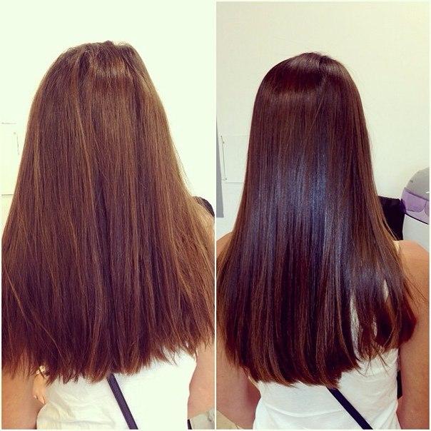 покраска волос и ботокс волос