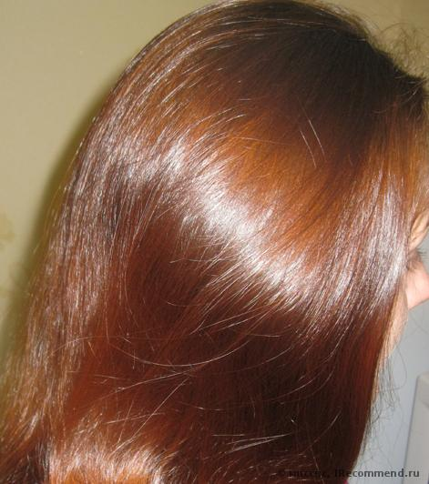 Окраска волос покрашенных до этого хной