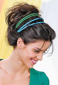 причёска с повязкой в греческом стиле