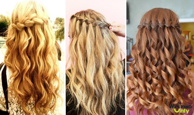 Красивые прически с кудрями на средние волосы