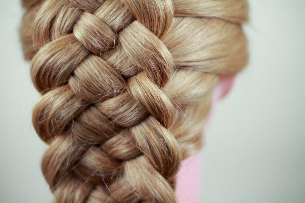 коса из 5 прядей схема