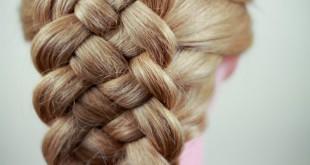 Схема плетения роскошной косы из 5 прядей
