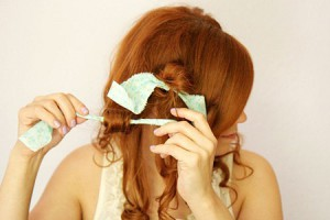 завивка волос на тряпочки