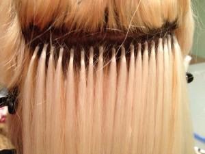Наращивание волос на микрокапсулы