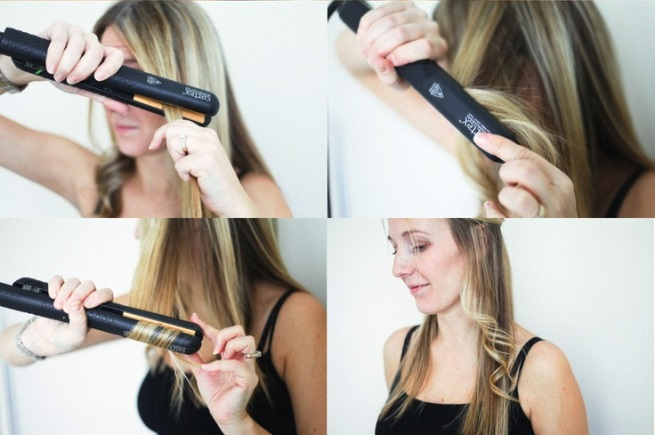 Завивка волос утюжком на средние волосы пошагово