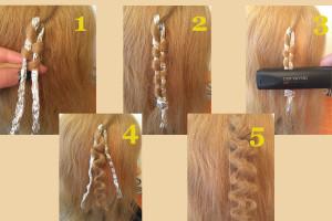 как завить волосы выпрямителем на фольгу